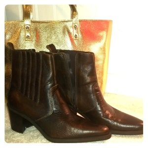 Brown Sam & Libby Ankle Boots Booties Size 8